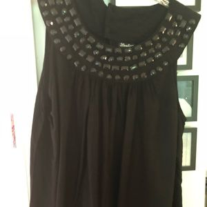 Black Top 3x with beading at neckline